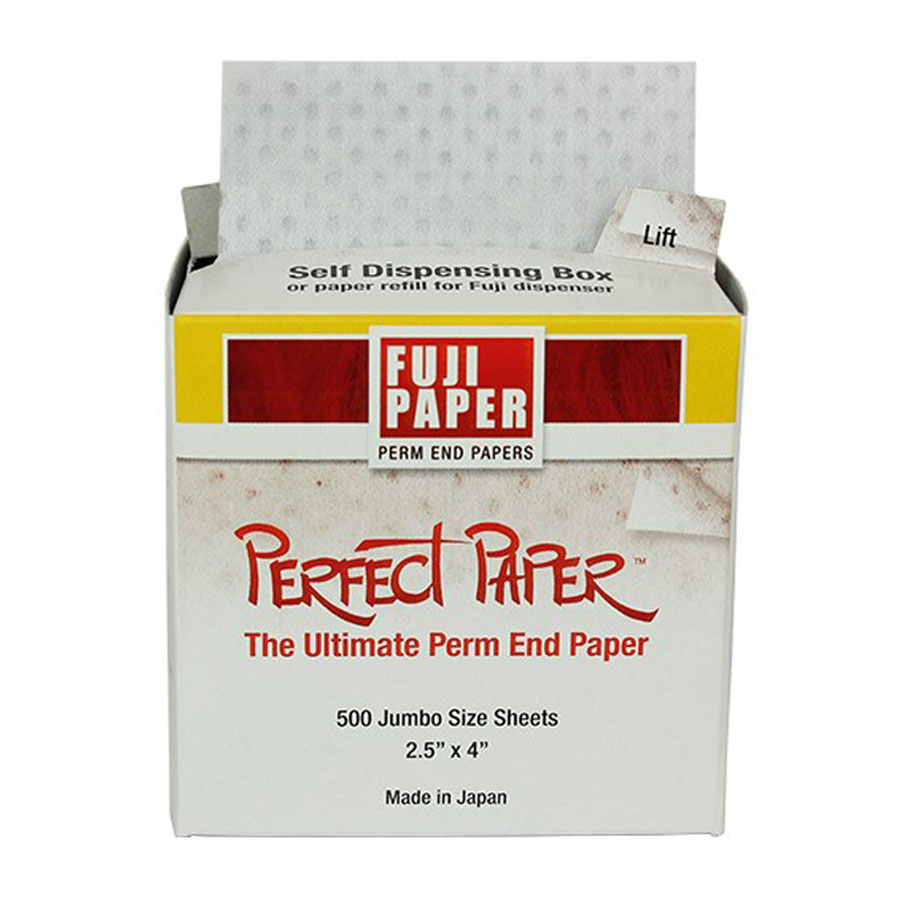Fuji Perfect Paper Self-Dispensing Box (500 Sheets), available in Lubbock, Texas from Black Bird Barber Supply.